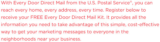 Register below to receive your FREE Every Door Direct Mail Kit.
